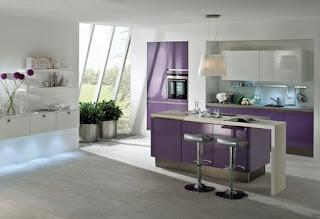 cocina de color purpura