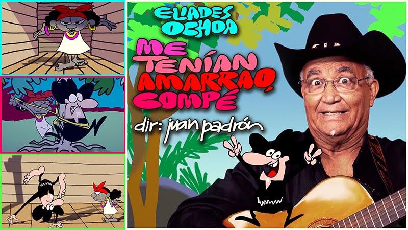 Eliades Ochoa - ¨Me tenían amarrao, compé¨ - Videoclip / Dibujo Animado - Dirección: Juan Padrón. Portal Del Vídeo Clip Cubano
