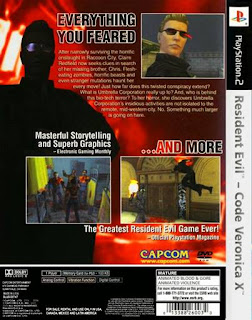 Back Jogo code verônica X ps2 resident evil 2001 Torrent ISO