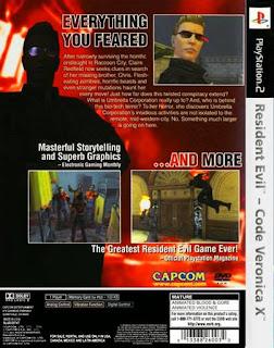 Back Jogo code verônica X ps2 resident evil 2001 Torrent ISO