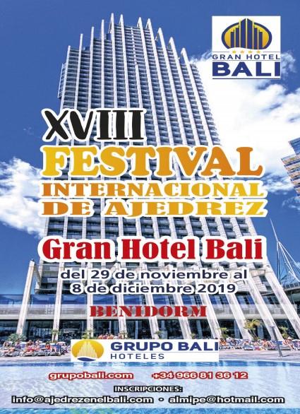 AVANCE, 18º Festival Gran Hotel Bali de Benidorm (29 noviembre a 8 diciembre 2019)