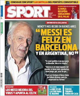 portada Sport prensa deportiva 21 11 2016