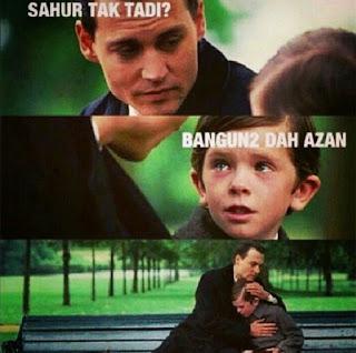 Foto lucu dan Gambar lucu DP BBM dan Meme Terbaru Jomblo Buka puasa saat ramadhan