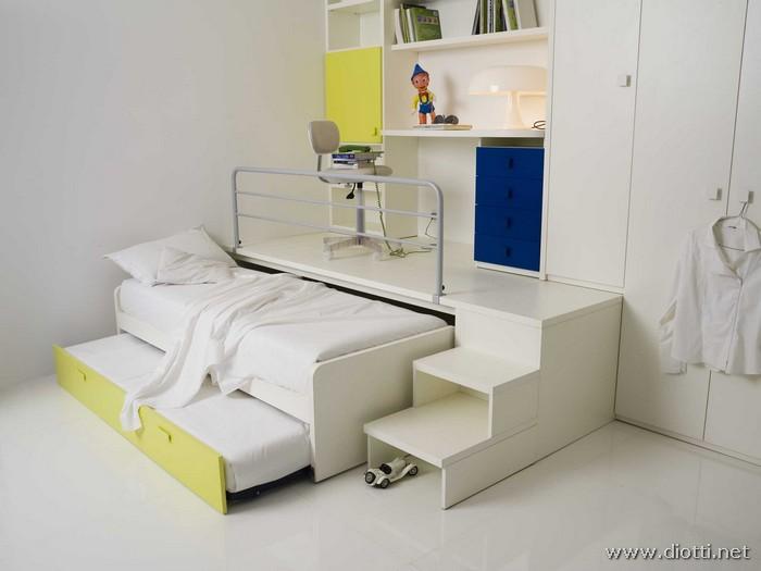 Arredamenti diotti a f il blog su mobili ed arredamento d 39 interni camerette a soppalco - Tv a scomparsa sotto il letto ...