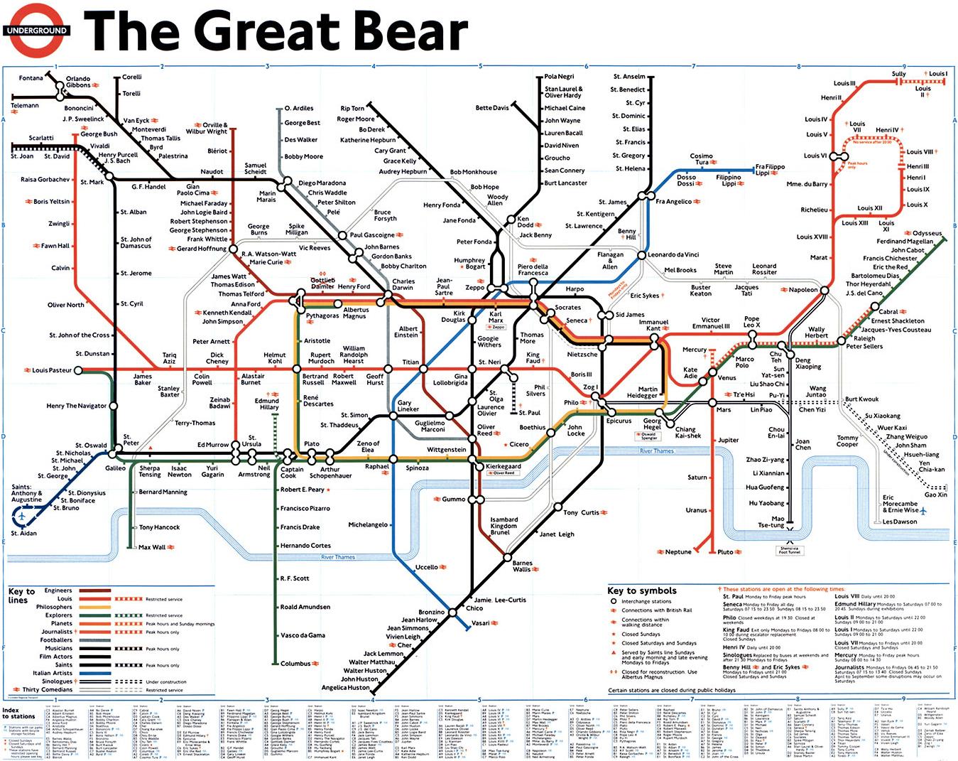 Great London Map.London Underground Map Reinterpreted