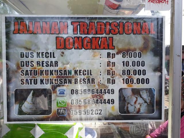 harga jajanan tradisional kue dongkal car free day bogor