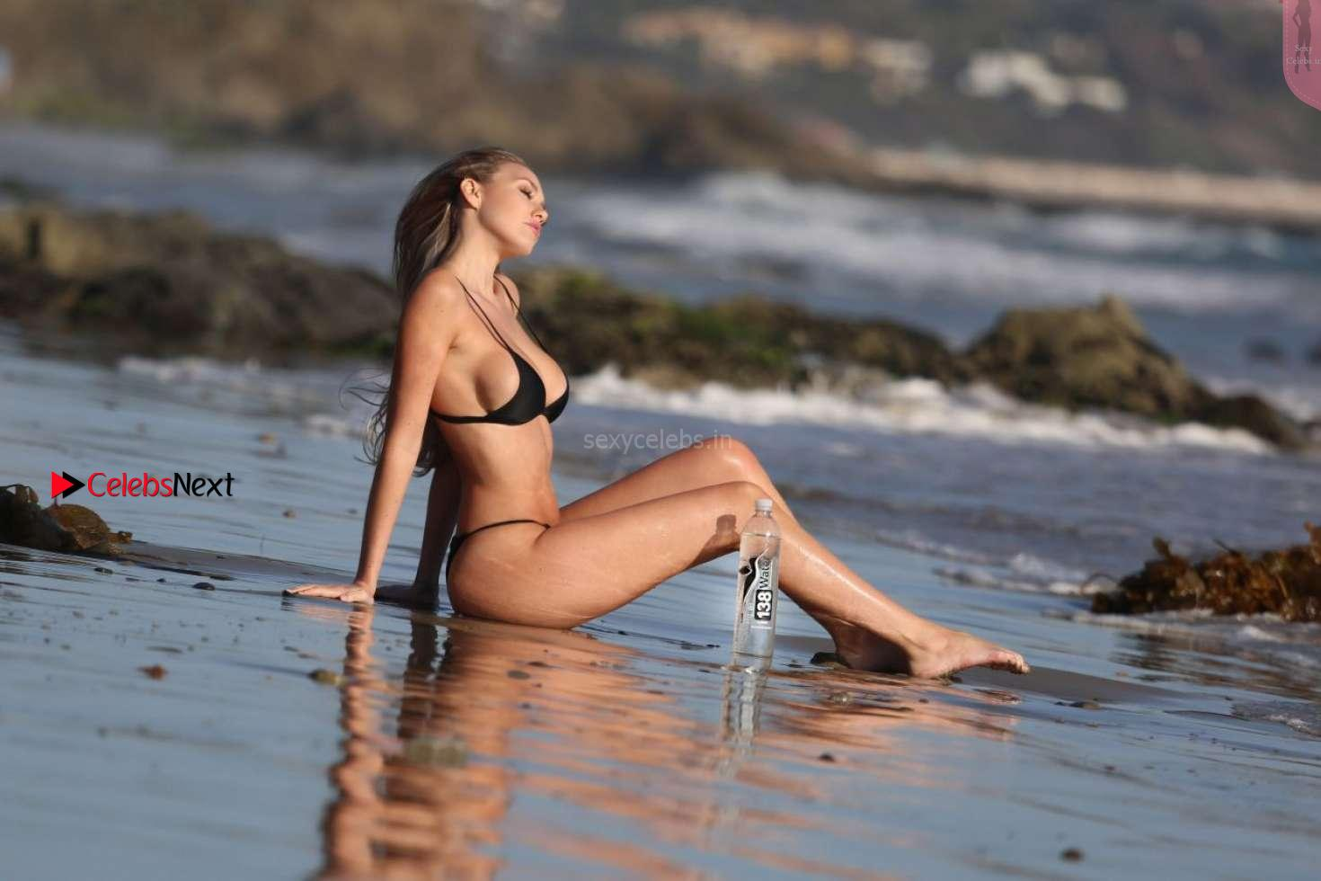 Jules Liesl in Wet Tiny Bikini Side Boob Full ass Sexy Cleavages Lovely Navel for 138 Water Bikini Babe