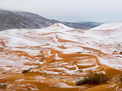 Fenomena Aneh, Salju Telah Turun di Gurun Sahara