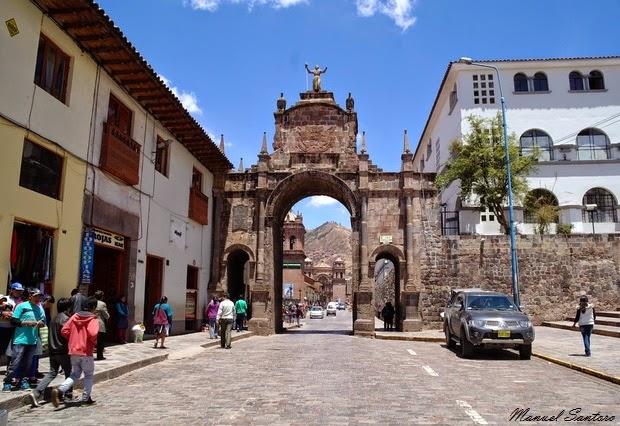 Cusco, arco di Santa Clara