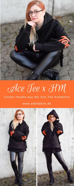Ace Tee für H&M, Leder Leggings richtig stylen, Outfit mit Lederleggings