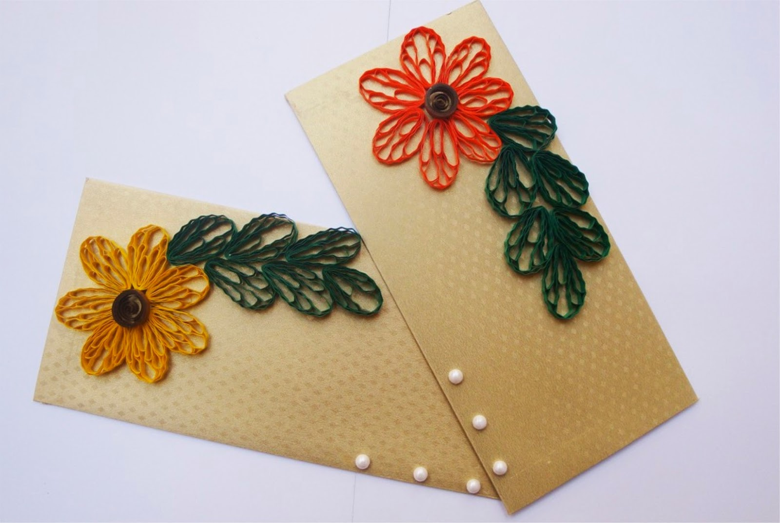 Paper quilling designs for envelope creative art craft for Creative paper art