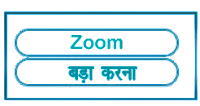 Zoom meaning in HINDI