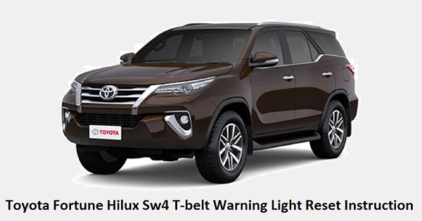 Toyota Fortune Hilux Sw4 T-belt Warning Light Reset Instruction