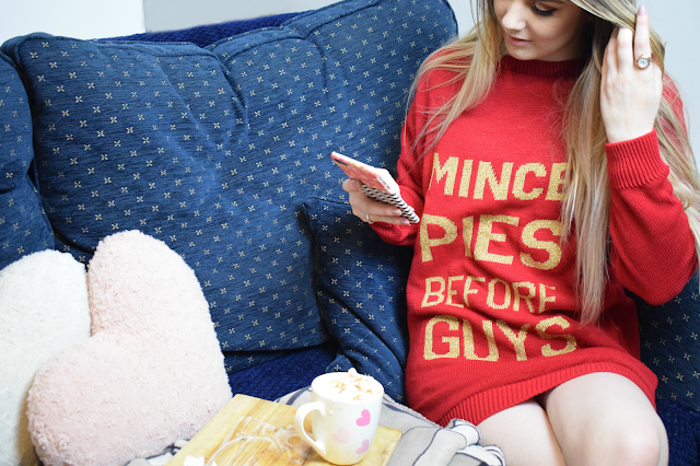 PrettyLittleThing Mince Pies Before Guys Jumper Dress