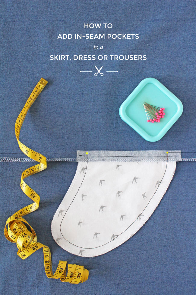 How to add in-seam pockets to a dress, skirt or trousers - Tilly and the Buttons