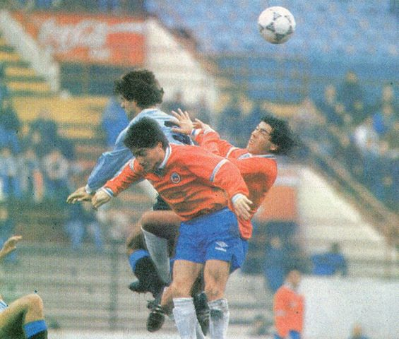 Chile y Uruguay en partido amistoso, 30 de mayo de 1991