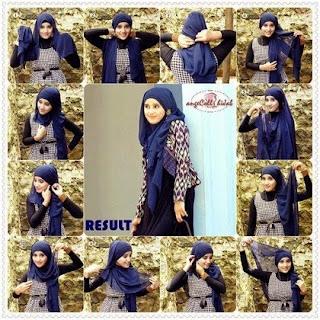hijab segi empat untuk ke kantor foto tutorial jilbab segi empat untuk ...