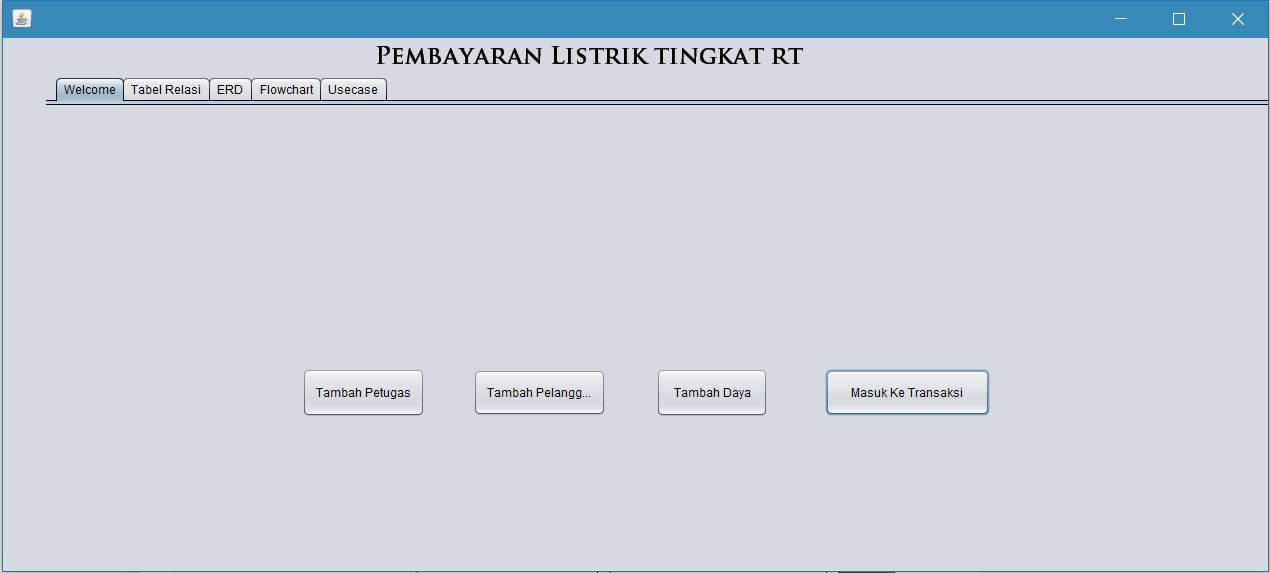 Pembayaran listrik class diagram usecase diagram sequence a screenshot program ccuart Choice Image
