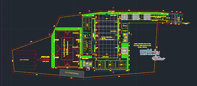 Initial Level Classe school Dwg