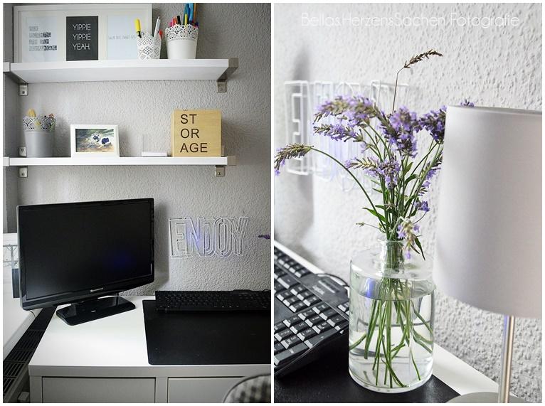 Home Office Ideen grau