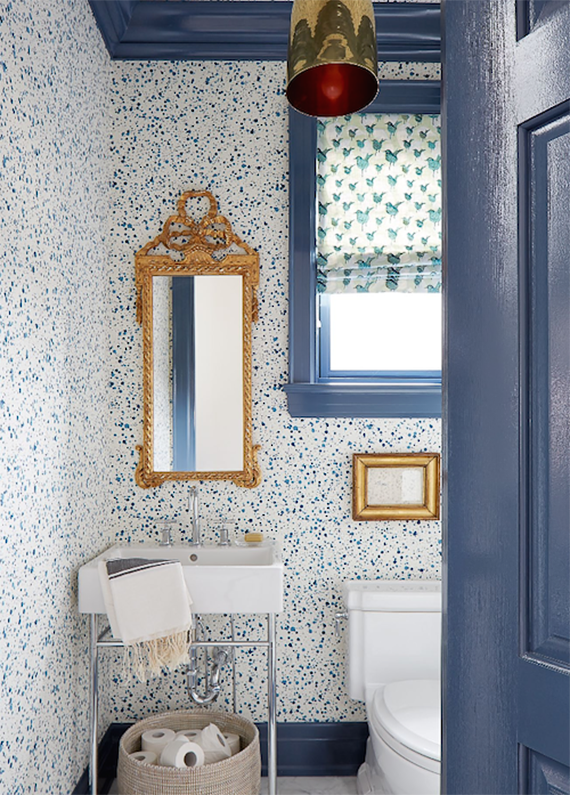 Bathrooms with bold patterned walls | Image by Virginia MacDonald for House & Home