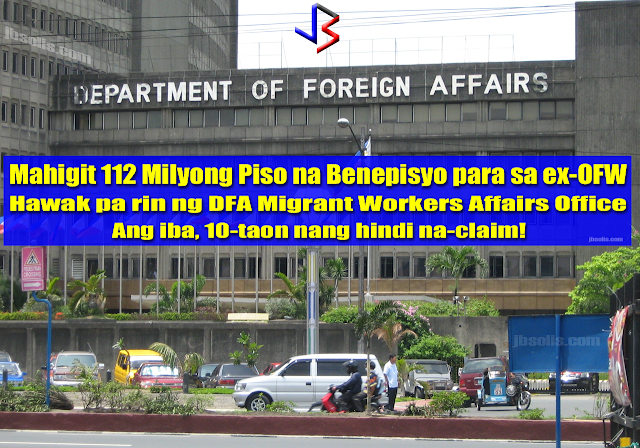 The Commission on Audit(COA) has discovered over 112 Million pesos in unclaimed End of Service Benefits (ESB) that are being held by the Department of Foreign Affairs via a bank account in the Philippine National Bank. That benefits should have been released to claimant Overseas Filipino Workers(OFW) for as far back as 10 years ago.  In its annual audit report on the DFA ending in December 2016, COA said the receipt and distribution by the Office of the Undersecretary for Migrant Workers Affairs (OUMWA) of the end-of-service benefits (ESB) due to Overseas Filipino Workers (OFW) or beneficiaries of the deceased OFWs remained unaccounted. This resulted in non-recognition of the cash in a bank account with a balance of PHP114,094,995.37 as of October 31, 2016.  The audit body noted that the interest income earned from the bank deposits in the net amount of PHP1,894,145.15 as of same period was not recorded and remitted to the National Treasury.  COA futher stated that the disbursements of the benefits were not also in accordance with the existing rules and regulations.  COA has asked DFA to submit a complete status report on all unclaimed and unreleased benefits - to include which has no identified beneficiary and which are with pending claims. recommended DFA to facilitate the prompt release of the ESB and hopefully to resolve issues and concerns affecting the release of benefits.   Among the roles of the DFA is to promote the rights and welfare of Filipino migrant workers. This includes assistance to facilitate the receipt and release of the end-of-service benefits (ESB) and other financial benefits due to the Filipino migrant worker or beneficiary of the deceased Filipino migrant workers.  The ESB or financial benefits are either released by the employer directly to the beneficiaries or remitted through the DFA Foreign Service Post (FSP).  The remittance of said benefits to FSP is receipted by its Collecting Officer and deposited to its bank account. Then, the Post remits the monies, by way of bank transfer, to the designated OUMWA bank account. OUMWA informs the latter of the remittance, name of the OFW or beneficiary, and amount of benefits. Upon receipt of the advice from the bank of the remittance, the OUMWA notifies the Filipino migrant worker or beneficiary and requires the latter to submit the necessary documents for the release of benefits.  The Undersecretary for OUMWA explained that the delay or non-release of benefits was attributed to the following reasons: 1. the use of substitute name of OFW 2. failure to reach an amicable settlement among the adverse claimants 3. illegal and undocumented workers 4. incomplete documentary requirements 5. multiple marriages 6. illegitimate children 7. family disputes 8. discrepancies and inconsistencies between records 9. no identified beneficiary 10. unknown/untraceable whereabouts of the beneficiaries 11. failure of the recipients outside Metro Manila to readily open a bank account due to fund various reasons  The COA suggested DFA to consider the possibility of transferring the funds to the disposition of the Overseas Workers Welfare Administration (OWWA) through the execution of Memorandum of Agreement as the latter has the complete data on the OFWs and their dependents, beneficiaries, or next-of-kin. Of whoever is capable of administering the death benefits of ESB of OFWs.  However despite OUMWA's representations, the Department of Labor and Unemployment or DOLE and OWWA are reluctant to accept the responsibility of receiving and releasing the ESB.