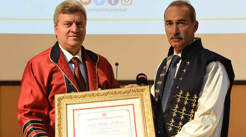 President Ivanov receives honorary doctorate from Cumhuriyet university in Sivas, Turkey