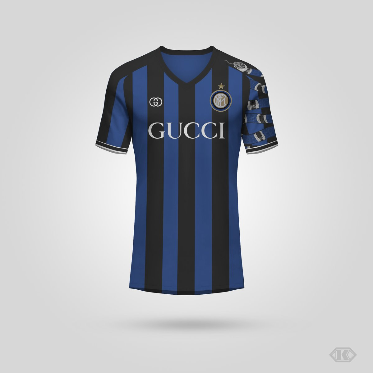 cf4f9fdc31b Gucci x Inter Home Shirt Concept by Kifth - Footy Headlines