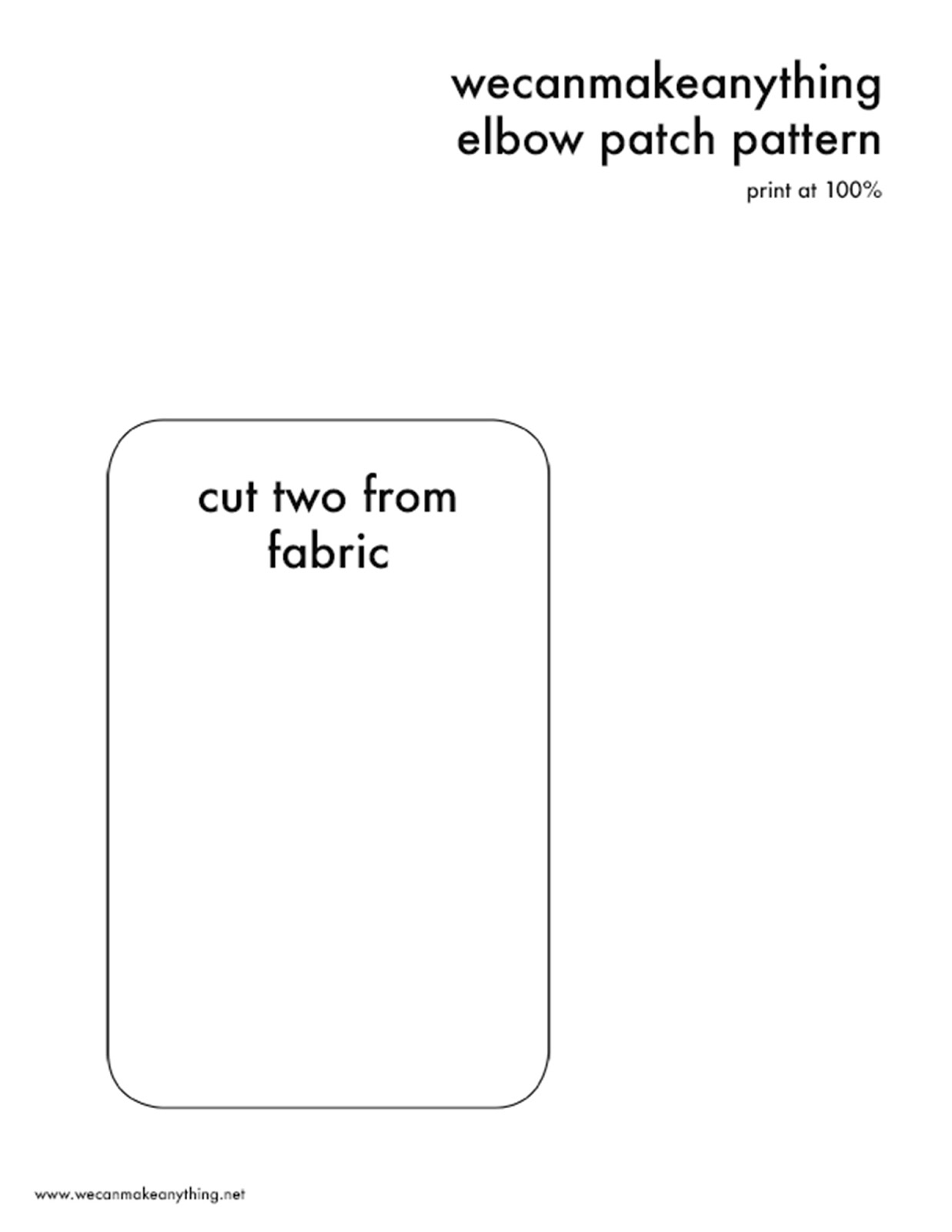 elbow patch template - we can make anything how to make elbow patches
