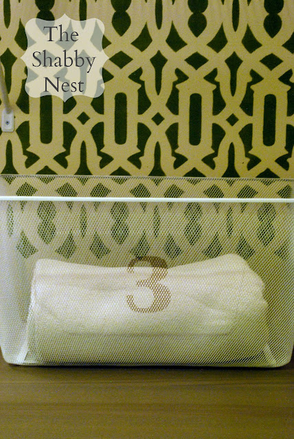 The Shabby Nest: Personalized Laundry Bin