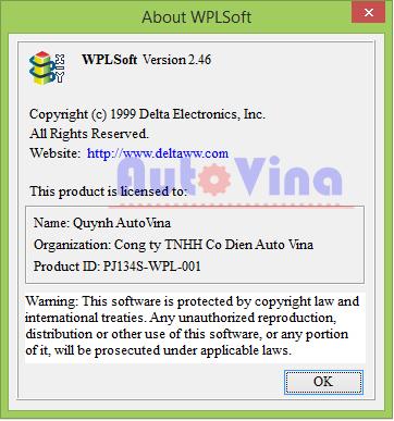 Thông tin phần mềm WPLSoft Version 2.46, tài liệu hướng dẫn sử dụng phần mềm WPLSoft 2.46 lập trình PLC Delta