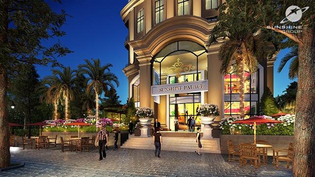 Quảng trường Chung cư Sunshine Palace Lĩnh Nam Hoàng Mai