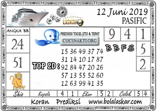 Prediksi Togel PASIFIC LASKAR4D 12 JUNI 2019