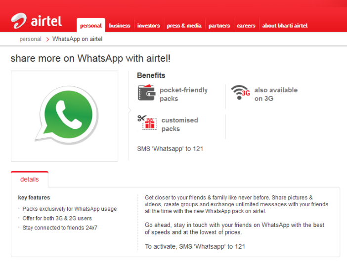 Airtel Free Use Whatsapp Daily! Without Data Pack Charges in Android