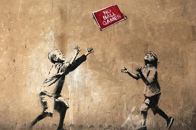 Street Art Mural by Banksy in London. Photo ©Hookedblog / Mark Rigney