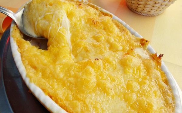 Receita de polenta com creme de leite (Imagem: Reprodução/Cozinhando em Roma)