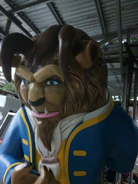 Custom Dekorasi 3D Patung / Styrofoam sculpture tema Beauty and the beast