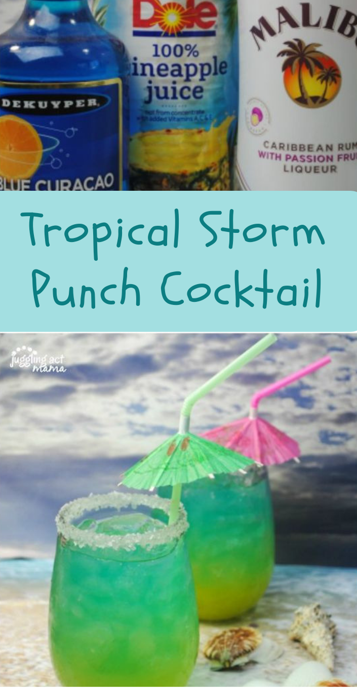 Tropical Storm Punch Cocktails #cocktail #drink