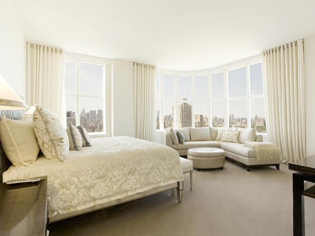 Photo of luxury master bedroom in New York penthouse