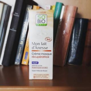 [Mon lait d'ânesse] Crème masque récupératrice nuit #Sobioétic