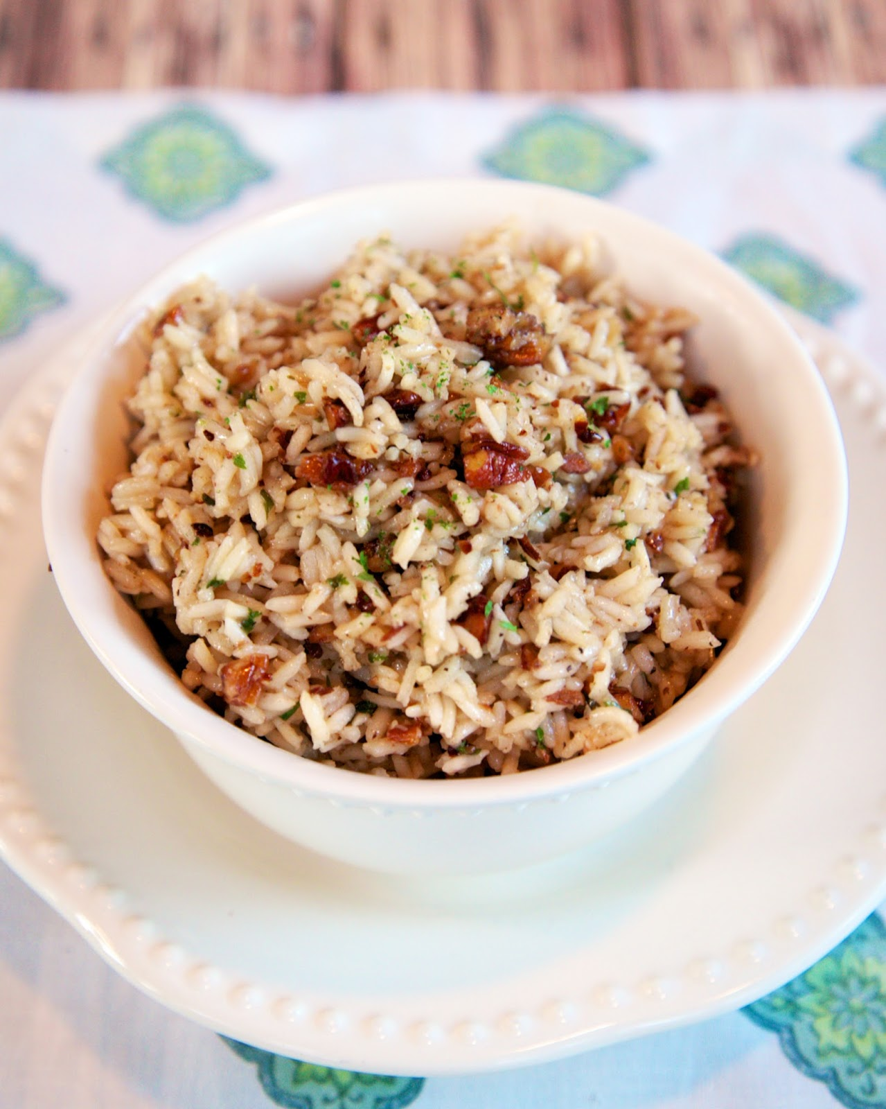 Pecan Pilaf recipe - toss the box and make this quick rice side dish - rice, pecans, chicken broth, and seasonings - tastes great and only takes 20 minutes!