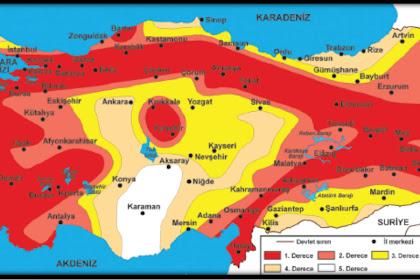 Turkiye Deprem Haritasy Boyama
