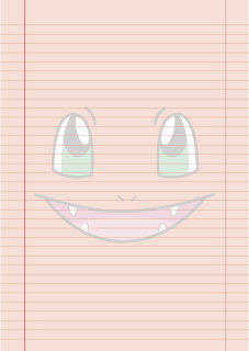 Papel Pautado do Charmander Pokemon PDF para imprimir na folha A4