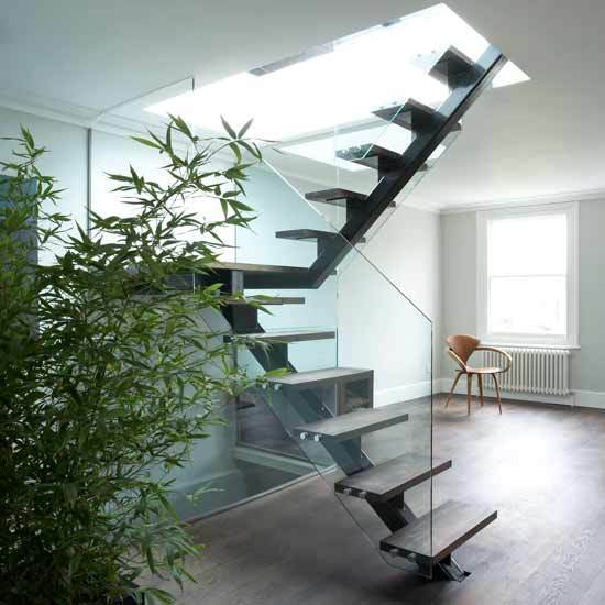 Sleek And Minimalistic, This Staircase Is Both Modern And Industrial.