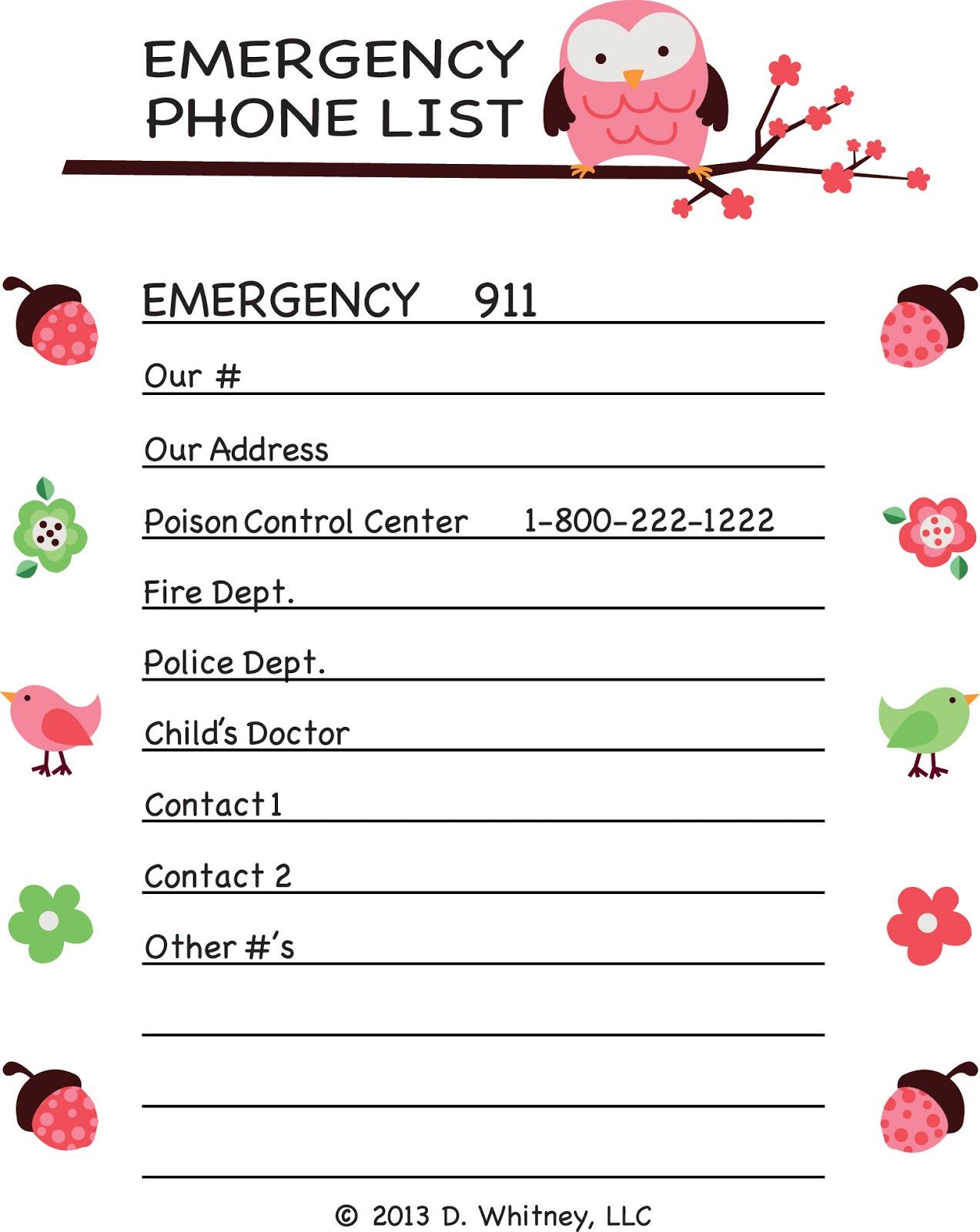 Parking Pal Emergency Phone List