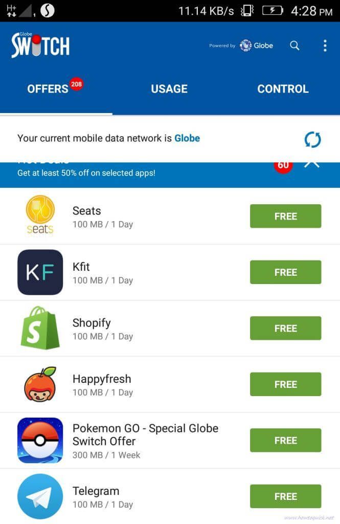 How to Use Globe Switch App to Get Free Internet and Promo Offers - HowToQuick.Net