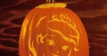 Disney at heart pumpkin templates from disney for Rapunzel pumpkin template