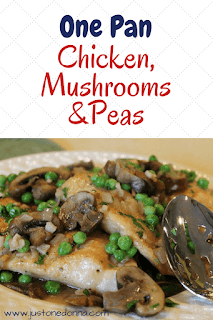 One Pan Chicken, Mushroom, and Peas