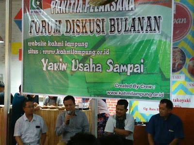 "Diskusi KAHMI Lampung Mengangkat Tema ""Membangun Lampung Dari Kampung"""