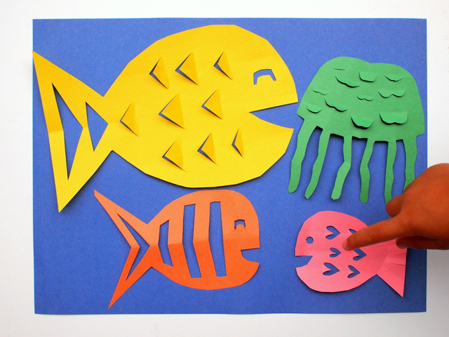 Easy Kirigami Fish Craft- Fun paper cutting and folding activity with kids!